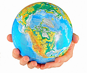 Globe, In A Center America Stock Photos - Image: 5522803
