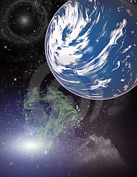 Planet In A Space. Royalty Free Stock Images - Image: 5525999
