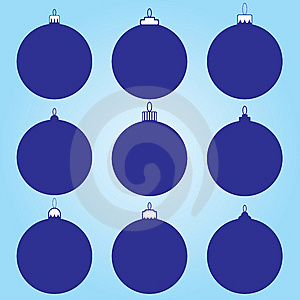 9 Different Christmas Ball Designs Royalty Free Stock Image - Image: 5526896