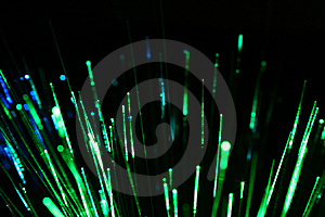 Green fiber Royalty Free Stock Image