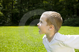 Happy Time. Running Kid. Stock Photos - Image: 5527893