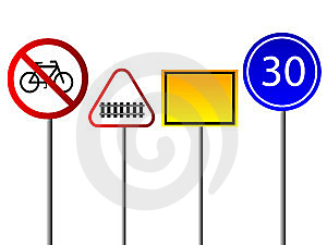 Signs For Traffic Stock Image - Image: 5530701