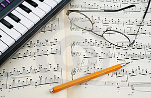 Musical Still Life Stock Photography - Image: 5531772