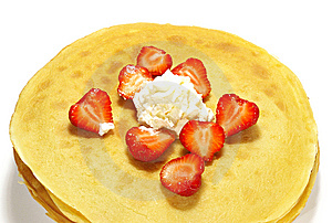 Pancakes And Strawberry Royalty Free Stock Photography - Image: 5532407