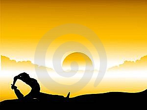 Human meditation Stock Photography