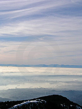 Vancouver In The Fog Royalty Free Stock Photography - Image: 5534187