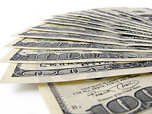 Stack Of $ 100 Bills Stock Photography - Image: 5534222