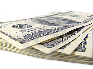 Stack Of $ 100 Bills Stock Image - Image: 5534331