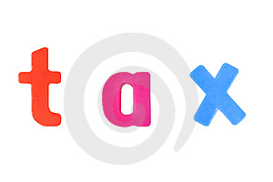 "Word ""tax"" Formed With Magnet Letters Royalty Free Stock Photography - Image: 5534717"