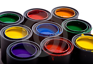 A variety of paints Royalty Free Stock Image