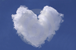 Heart from clouds Royalty Free Stock Images