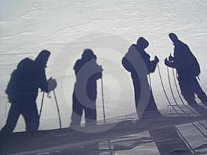 Shadows On A Snow Stock Photo - Image: 5544310