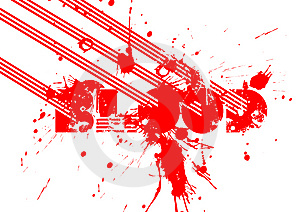 Blood Art Royalty Free Stock Image - Image: 5549446