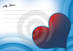 My Love Letter Stock Image - Image: 5549591