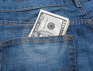 Money And Jeans 6 Royalty Free Stock Images - Image: 5550309