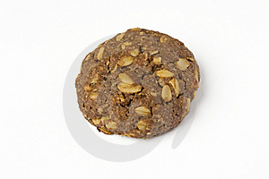 Cocoa Cookie With Oat-flakes Stock Image - Image: 5551361