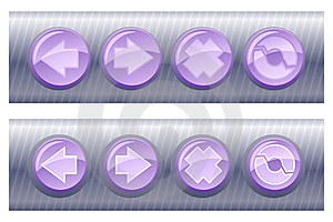 Set Of Violet Browser Buttons, On And Off Royalty Free Stock Photography - Image: 5551817