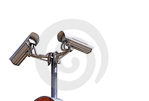 Isoated Security Camera Royalty Free Stock Images - Image: 5551859