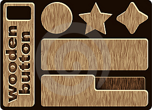 Wooden Icons Stock Image - Image: 5552961