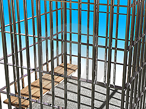 Metal Cage 3d, Concept Of Jail 03 Stock Images - Image: 5553434