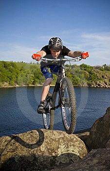De fiets extreme truc Royalty-vrije Stock Afbeeldingen