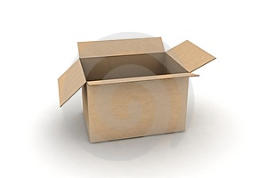 Isolated cardboard Royalty Free Stock Photo