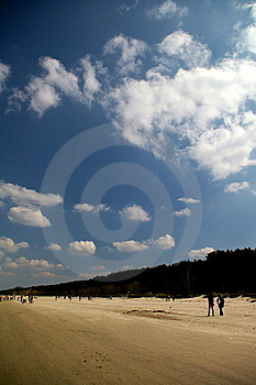Walking On The Beach Royalty Free Stock Images - Image: 5561879