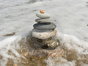 Stones for meditation Stock Image