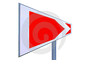 This Way Traffic Sign Royalty Free Stock Photography - Image: 5565877