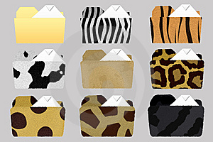 Textured Folder Icons Stock Photography - Image: 5567192