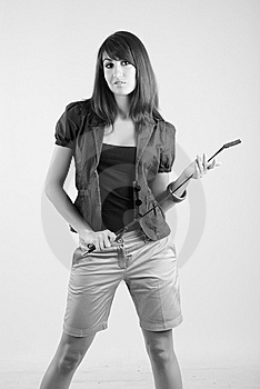 Girl With Whip Stock Images - Image: 5567344