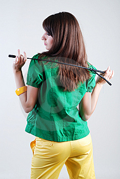 Girl With Whip Stock Photo - Image: 5567370