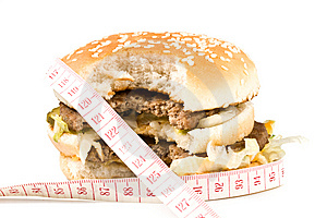 The Taken A Bite Hamburger Stock Photography - Image: 5568532