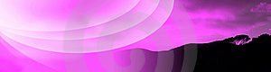 Tuscany Fuchsia Banner Royalty Free Stock Photo - Image: 5572295