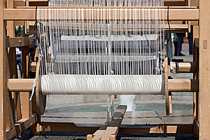 Antique Weaving Machine Royalty Free Stock Photography - Image: 5573087