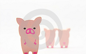 Wooded Pigs Royalty Free Stock Photo - Image: 5575285
