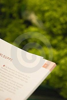 Recept Arkivbild - Bild: 5576152