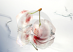 Frozen Cherries Royalty Free Stock Images - Image: 5576459