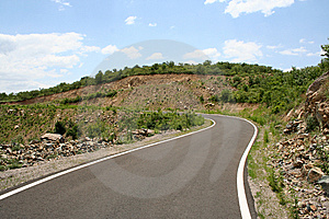 Road Line And Curve Royalty Free Stock Image - Image: 5577856