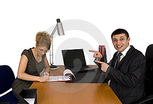 Businesswoman Signing The Contract. Stock Photo - Image: 5587380