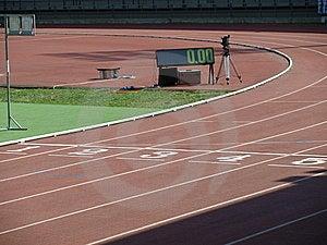 Pista Atletica Immagine Stock Libera da Diritti - Immagine: 5588006