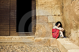 Sad woman Royalty Free Stock Image