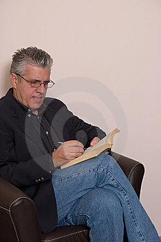 Reading A Book Royalty Free Stock Photos - Image: 5589878