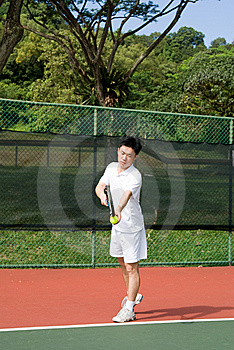 Aisan Tennis Player Stock Photo - Image: 5592090