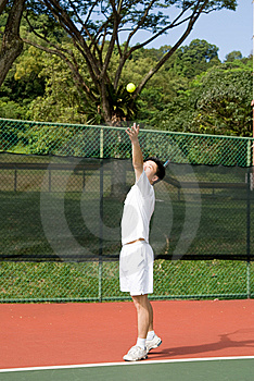 Aisan Tennis Player Royalty Free Stock Image - Image: 5592096