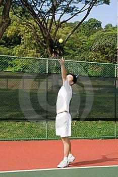 Aisan Tennis Player Royalty Free Stock Image - Image: 5592096