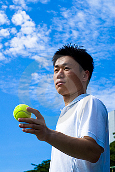 Aisan Tennis Player Stock Image - Image: 5592101