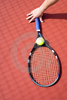 Tennis Ball And Racket Stock Photo - Image: 5592110