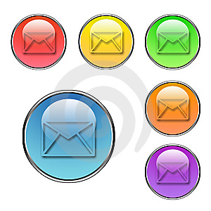 Mail Buttons Set Stock Images - Image: 5592954