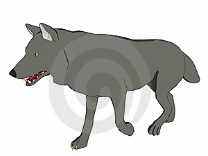 Cartoon Style Wolf Royalty Free Stock Image - Image: 5593036